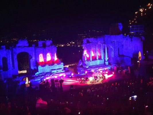 Konzert im antiken Theater von Taormina