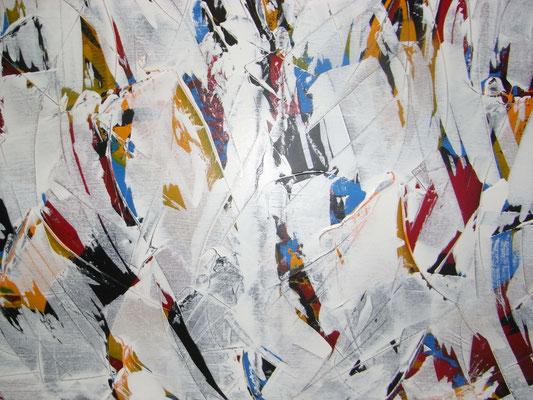 130  -  EINBLICKE  Acryl gespachtelt  60x90cm      €   420,--