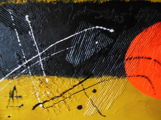 107  -  NEW LOOK  Acrylcollage  60x90cm    €   420,--
