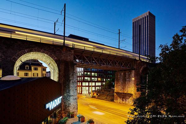 Zürich Aussersihler Viadukt bei Abenddämmerung - #3083