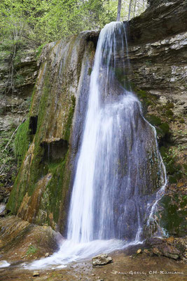 12 m hoher Hanggiessen Wasserfall im Erlenbacher Tobel
