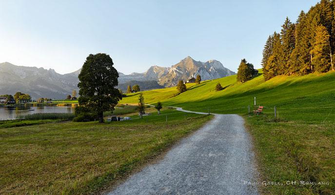 Flachmoorgebiet Schwendi - Blick auf Schafberg