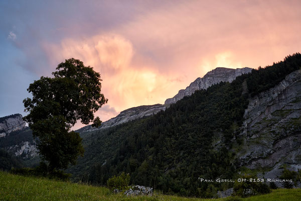 Abendrot beim Obersee GL