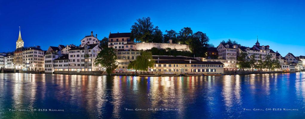 Zürich Schipfe bei Nacht