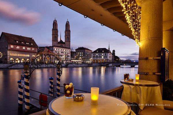 Zürich - Blick vom Hotel Storchen auf das Limmatquai - #7116