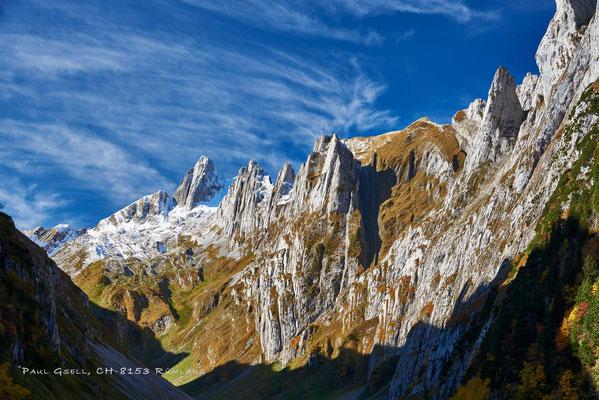 Alpstein mit Altmann und Fählenschafberg