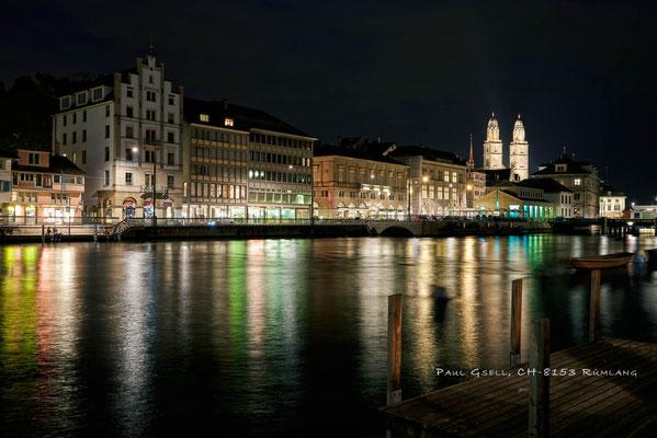 Zürich - Limmatquai bei Nacht - #4908