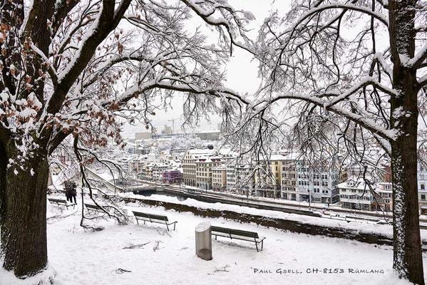 Zürich Lindenhof im Winter - #2186_1