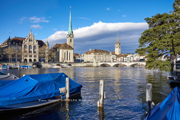Zürich - Limmat mit Blick auf Stadthausquai - #6095