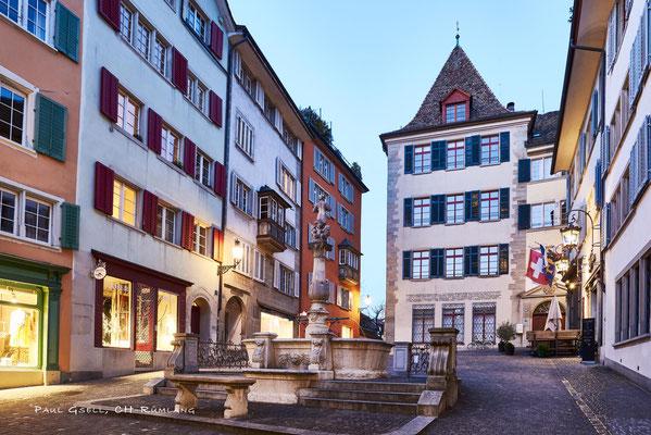 Zürich Napfplatz bei Abenddämmerung - #0412