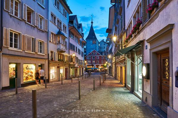 Zürich Neumarkt bei Abenddämmerung - #2093
