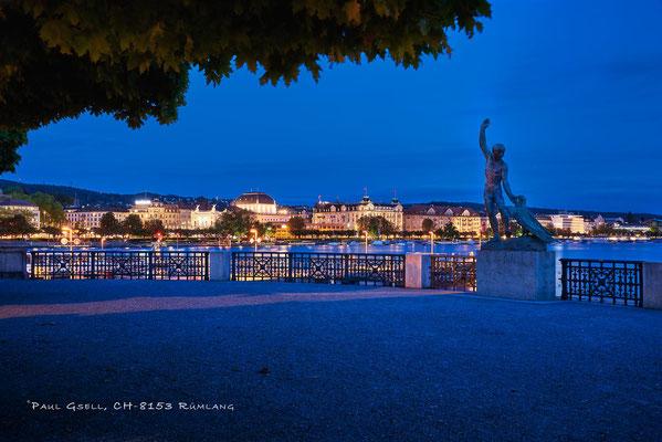 Zürich - Bürkliterrasse bei Nacht - #4970