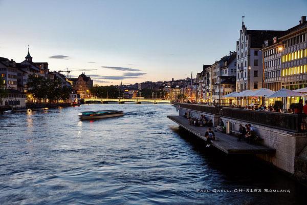 Zürich - rechts Limmatquai, links Schipfe - #5505