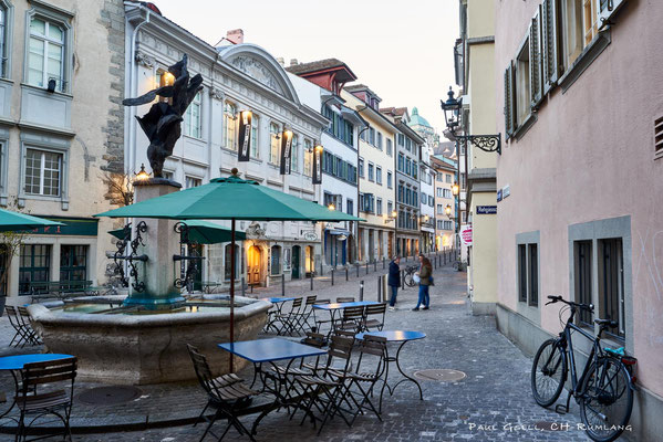 Zürich Neumarkt bei Abenddämmerung - #0394
