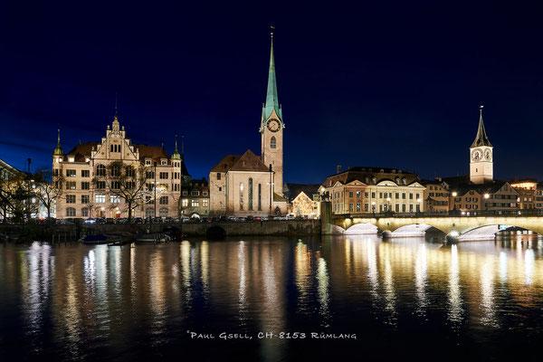 Zürich Kirche Fraumünster und St. Peter - #2121