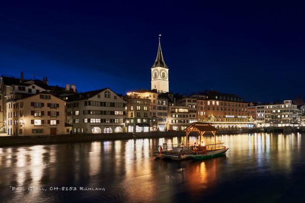 Zürich bei Nacht zur Adventszeit - #2119