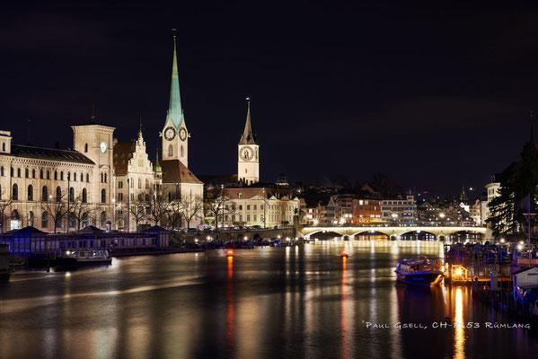 Zürich - Blick Richtung Stadthausquai - #6450