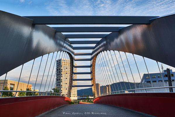 Gleisbogenbrücke in Zürich