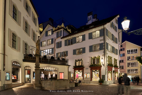 Nachtaufnahme Zürich Rennweg / Strehlgasse - #4077