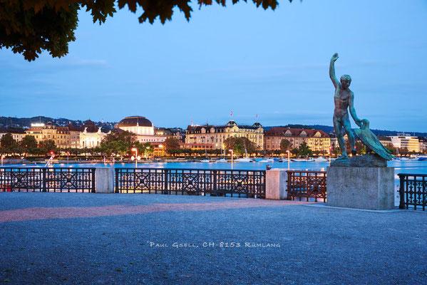 Zürich - Bürkliterrasse zur blauen Stunde - #4964