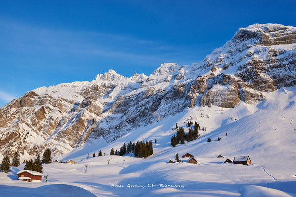 Schwägalp und Alpsteinmassiv mit Säntis