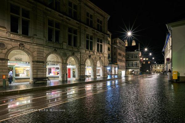 Zürich - Limmatquai bei Regen - #4948