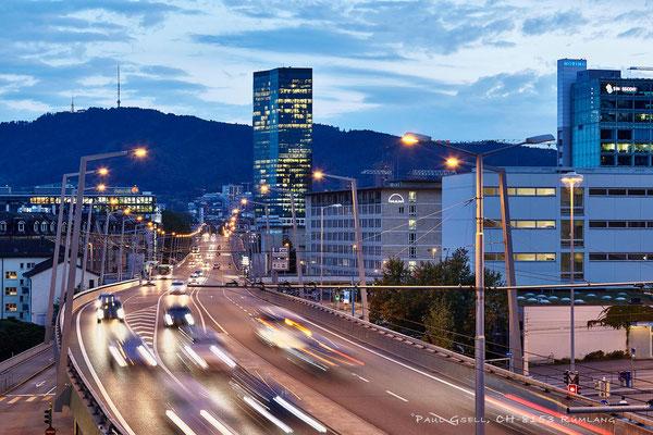 Zürich - Hardbrücke, Abendverkehr