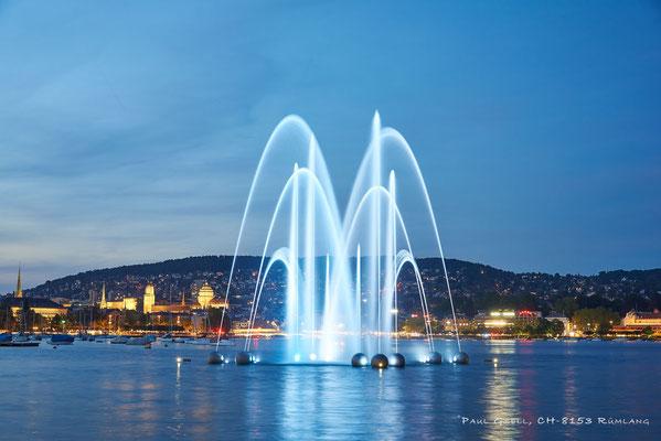 Springbrunnen Aquaretum in Zürich