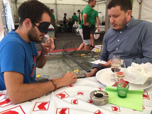 Wein-Blinddegustation mit dem Steirumpler-Team