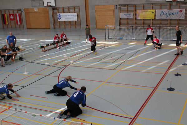 Finalspiel: Magdeburg gegen die Schweizer Nationalmannschaft