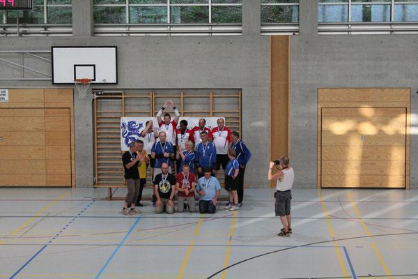 Podest: 1. Schweizer Nationalmannschaft, 2. Magdeburg, 3. Vorarlberg