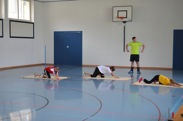 Kids mit stolzem Trainer ;-)