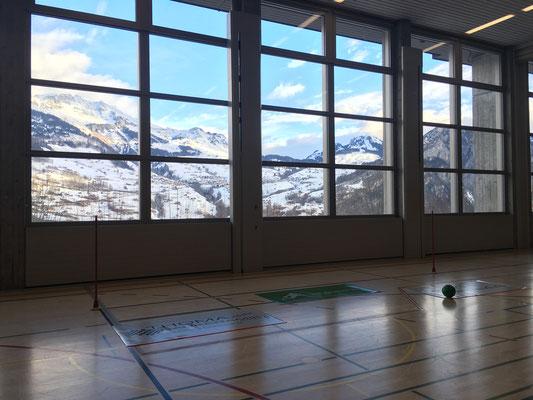 Wunderbare Aussicht aus der Trainingshalle!