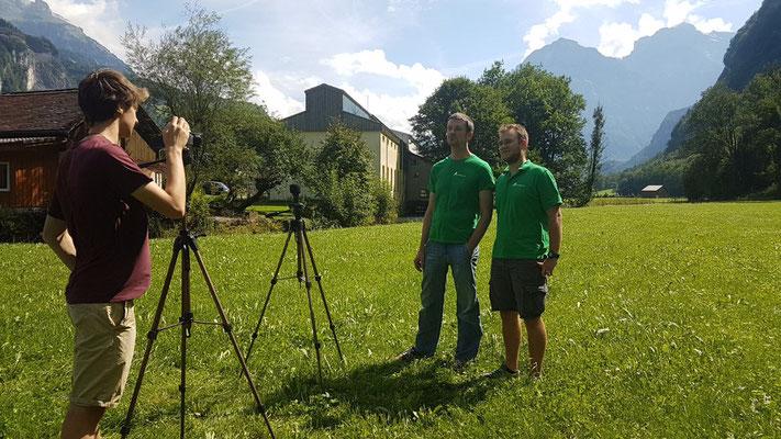 Filmaufnahmen mit Jonathan