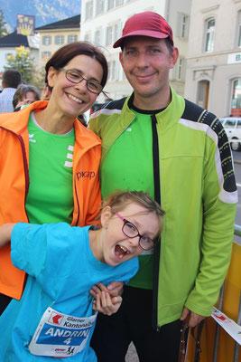 Familie Bösiger vom TC Heidiland gänd Gas für TB Glarus 11