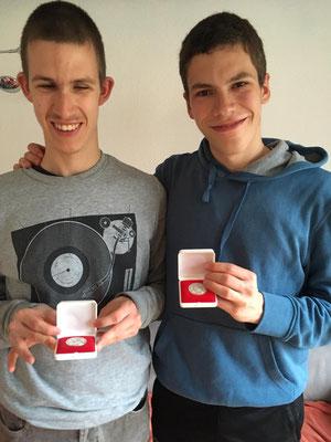 Luca und Joël wurden für ihre tollen Leistungen belohnt