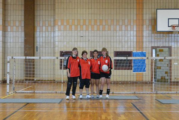 Das Damenteam unter Basler Flagge