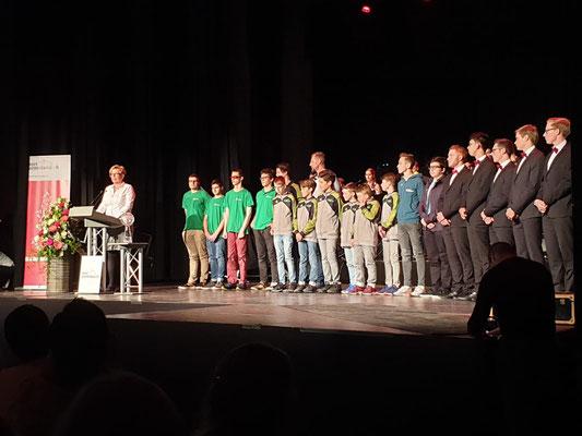 """TB Glarus 11 Jugend, nominiert in der Kategorie """"Team Nachwuchs"""""""