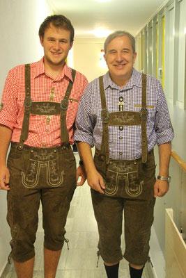 Unsere beiden feschen Lederhosenträger ;-)