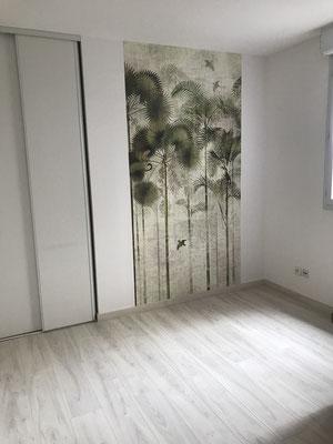 Chambre panneau papier peint décoratif