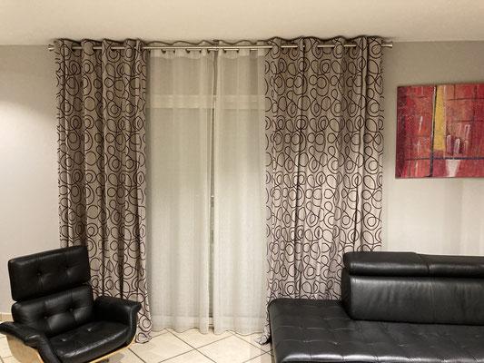 Pose de double rideaux
