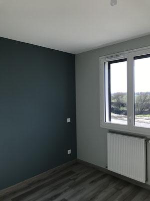 Chambre Peinture bleu
