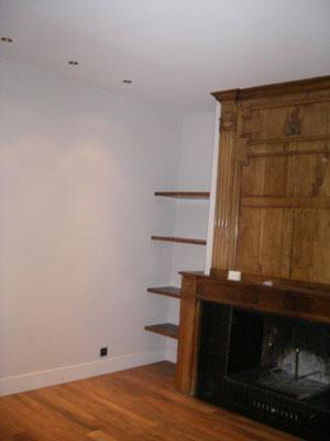 Peinture espace cheminée