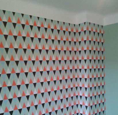 Papier peint motifs géometriques