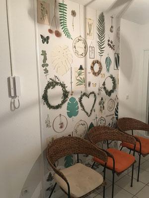 Salle d'attente panneau papier peint décoratif