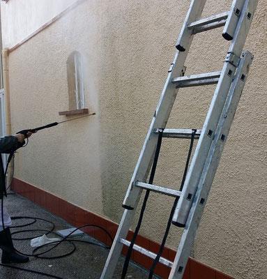 Nettoyage de la façade