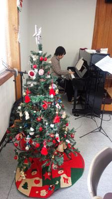 クリスマスツリーの飾りつけもきれいです。