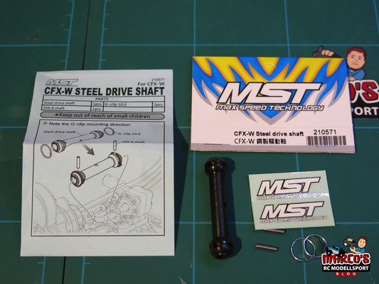 MST CFX-W Steel drive shaft, 210571