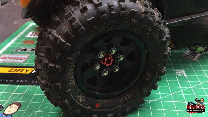 Yeah Racing -  Aluminium 12mm-Sechskant Radmitnehmer Set für Crawler 15mm Offset (rot)