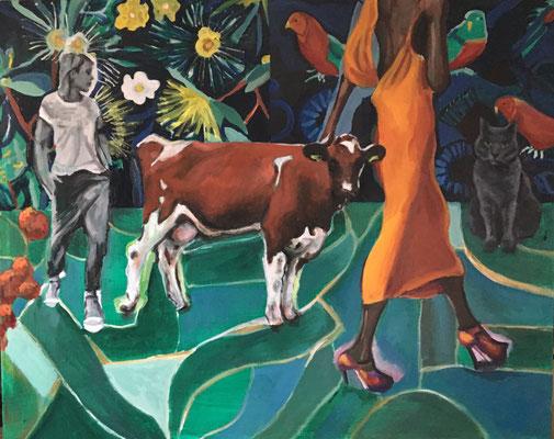'Catwalk' oil on canvas, 80x100cm €1295